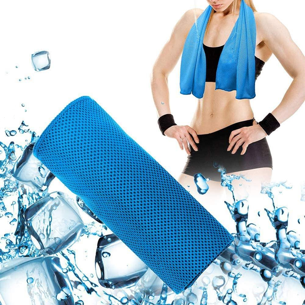 U-pick 4 Packs Instant Cooling Towel Ice Towel Mini Packing Towel For Yoga Sport Gym Workout Camping Fitness Indoor Exersices