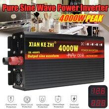 цена на Inverter 12V 220V 2000/3000/4000W Voltage transformer Pure Sine Wave Power Inverter DC12V to AC 220V Converter + 2 LED Display