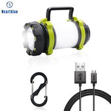 Camping Light LED Camping Light USB Rechargeable Flashlight Dimmable Spotlight Work Light Waterproof Searchlight Emergency Torch