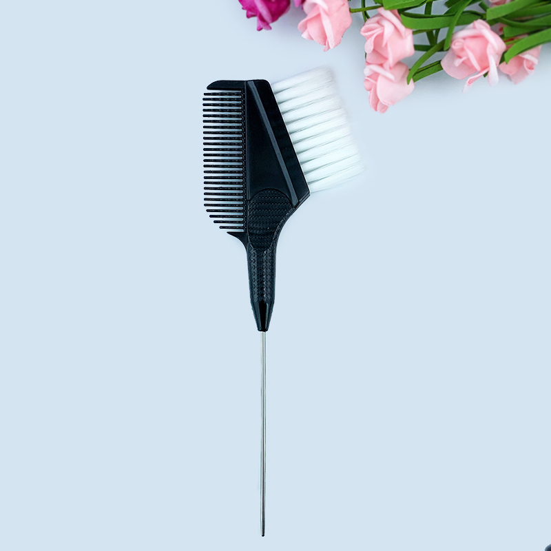 Pin Tail Hair Color Brush,Hair Coloring Brush, Hair Dye Brush With Needle,Integrated Hair Coloring Comb
