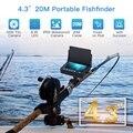 20 м подводная камера HD 1000TVL 8 шт. светодиодный рыболокатор 4 3 дюймов ЖК-монитор рыболовная видеокамера комплект для ледового озера морской пл...
