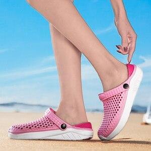 Image 5 - Unisex Spiaggia di Modo Zoccoli di Spessore Suola Pantofola Impermeabile Anti Slittamento Sandali di Flip Flops per Le Donne Degli Uomini