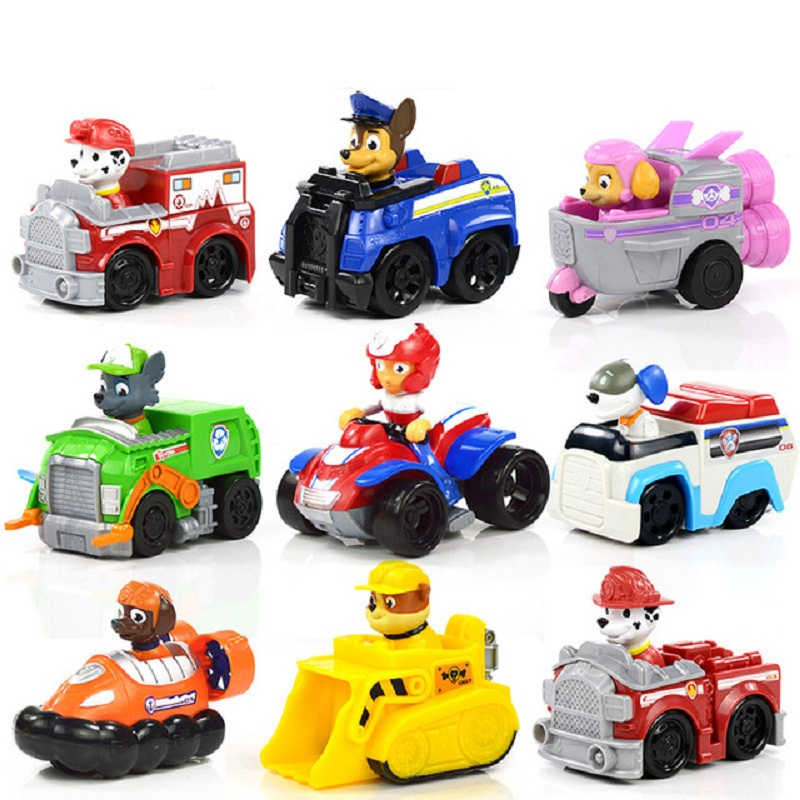 Paw Patrol Dog Puppy Patrol car Patrulla Canina toys Action Figures Model Toy Chase Marshall Ryder Vehicle Car Kids Toy