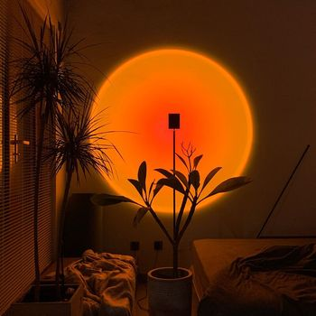 Modern LED Sunset Floor Lamp Indoor Decor Atmosphere Stand Lamp Bedroom Living Room Colorful Club Floor Light Standing Lighting 1