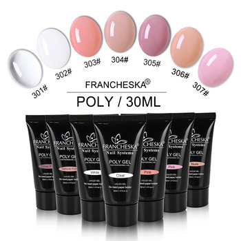 Francheska 30ml UV Polygel Quick Building Nail Extension Poly Gel Used with Nail Tips soak off poly gel uv acryl gel quick building 15ml finger extension polygel builder gel camouflage uv led hard builder nail gel