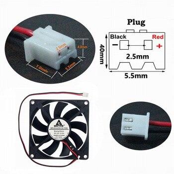 Gdstime 12V 80mm 2Pin Roulement à Billes 8cm 80x80x15mm Ventilateur De Refroidissement Cc Radiateur Refroidisseur De Processeur