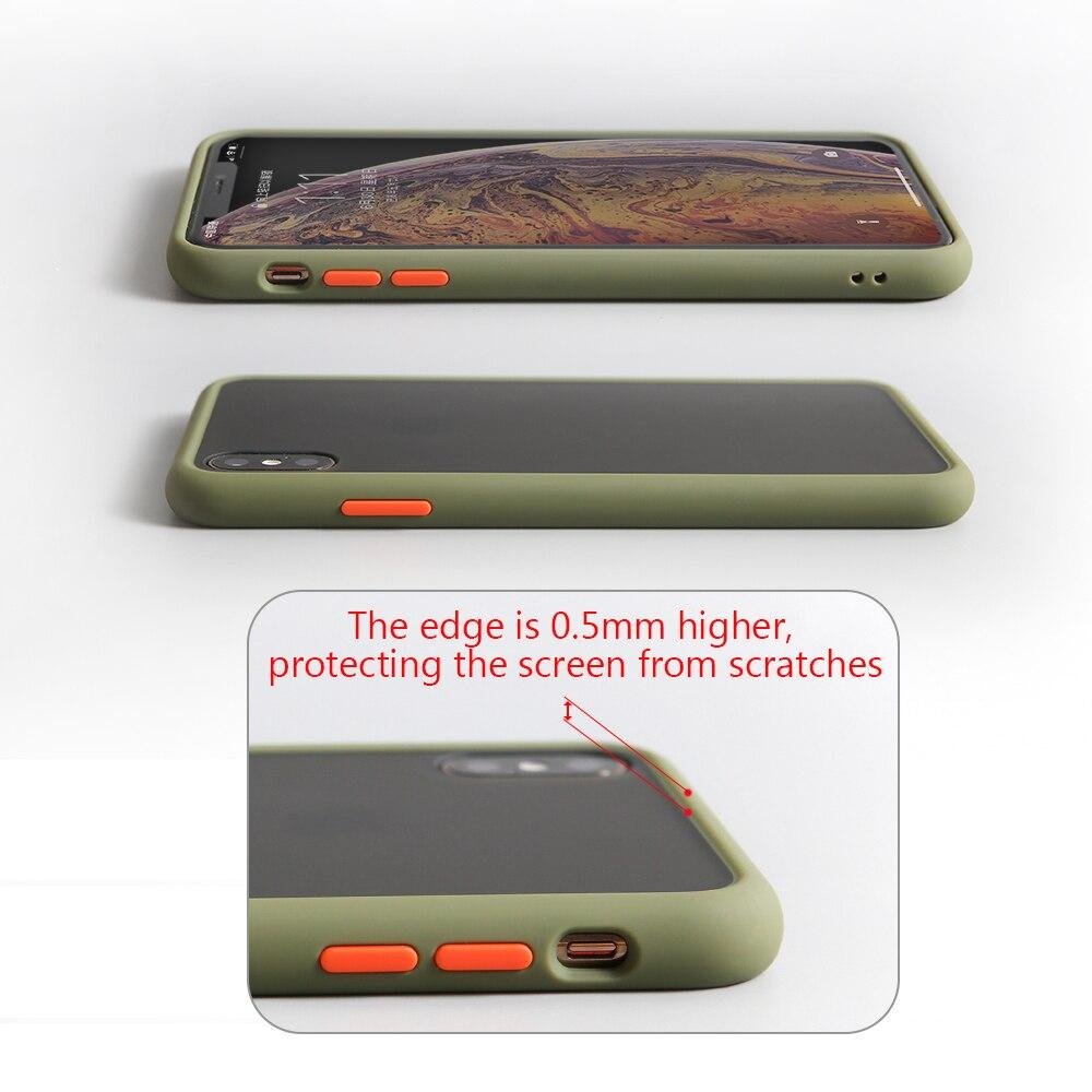 transparent case For xiaomi redmi note 9s 8t 9 7 8 pro 8a 7a shockproof case cover For xiaomi mi 10 9 se lite 8 9t matte fundas