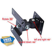 "free shipping universal 10""24"" 27"" 100x100 75x75 80x80 metal vesa mount arm rotate tiltable swivel LCD wall support holder"