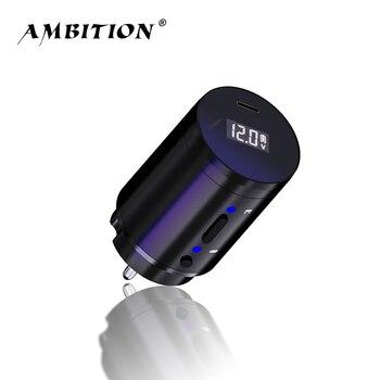 Ambition беспроводной источник питания для тату, RCA Интерфейс для роторной машины, Литейный адаптер, быстрая зарядка|Блок питания для тату-машинки|   | АлиЭкспресс
