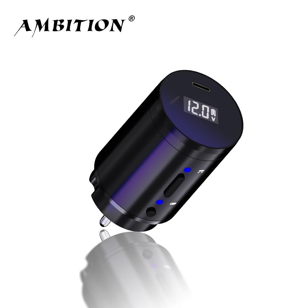 Ambition беспроводной источник питания для тату, RCA Интерфейс для роторной машины, Литейный адаптер, быстрая зарядка