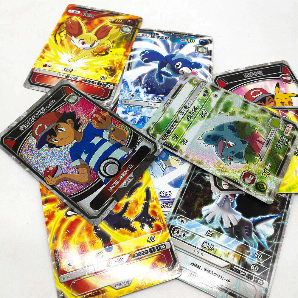 TAKARA TOMY Pokemon Cards Flash Card Collections 150 Pcs/set 5 Pcs/bag Table Card Board Game Children Christmas Gifts