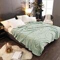 Marke Neue Einfarbig Bettdecke bettdecke Für Home Hotel Winter Warme Flanell Decke Komfortable Weiche Blatt Matratze Abdeckung-in Tagesdecke aus Heim und Garten bei
