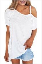 Sexy Short Sleeve Women T Shirt Oblique Collar Strapless Shoulder  Wild Womens T-shirt Five Colors Clothes