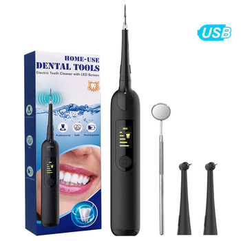 LED Ultrasonic tooth cleaner Electric Dental Scaler Sonic Vibration Tooth Scraper Tartar Stain Remover Dental Calculus Remover portable electric sonic dental scaler tooth calculu stain remover tartar scraper high frequency vibration dentist tools