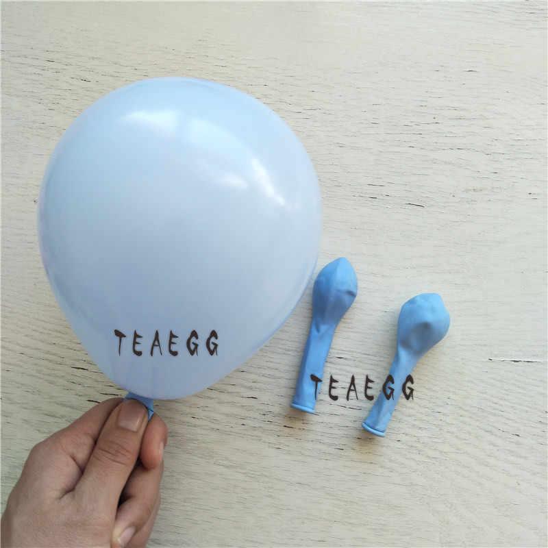 170 قطعة بالونات باستيل جارلاند قوس عدة معكرون الأزرق عيد ميلاد الزفاف استحمام الطفل الذكرى ديكور حفلة بالونويل