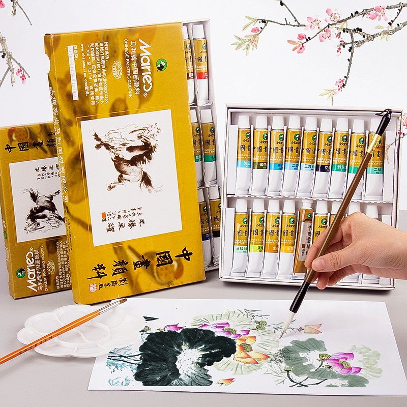 12/18/24/36 Colors 5/12ML Chinese Painting Pigment Watercolor Paint Set Painting Drawing Tools For Artist Students Art Supplies