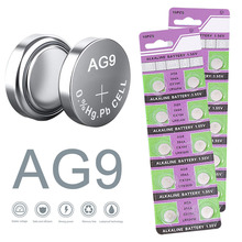 цена на 10PCS AG9 Button Battery 1.55V 394A CX194 LR936W Coin Cell Alkaline Batteries for Watches Remote Controls Toys Calculators