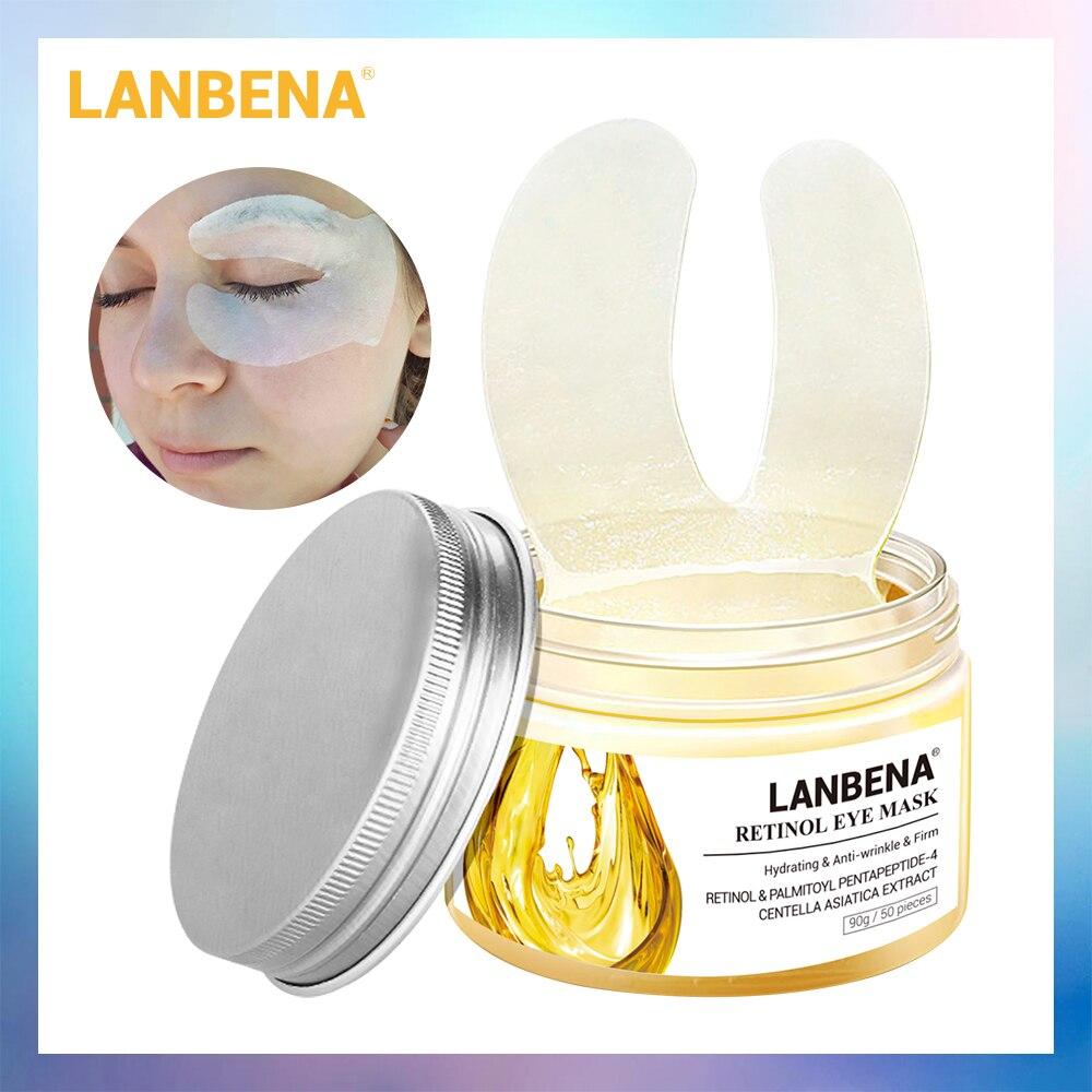 LANBENA Retinol Eye Máscara de Olho Remendo Ageless Reduz Olheiras Anti-Inchaço Lifting Firming Eye Serum Creme Cuidados Com A Pele 50PCS