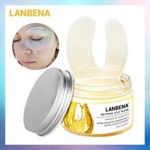 LANBENA Retinol Eye Mask Eye Patch Reduces Dark Circles Ageless Anti-Puffiness Lifting Firming Eye Serum Cream Skin Care 50PCS