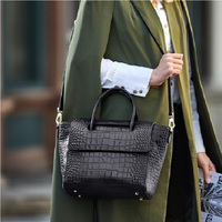 ZOOLER Only Large Black Leather Handbags for Bussiness Women Female Tote Bags Roomy Commuting Shoulder bags Cow HOT#lt325
