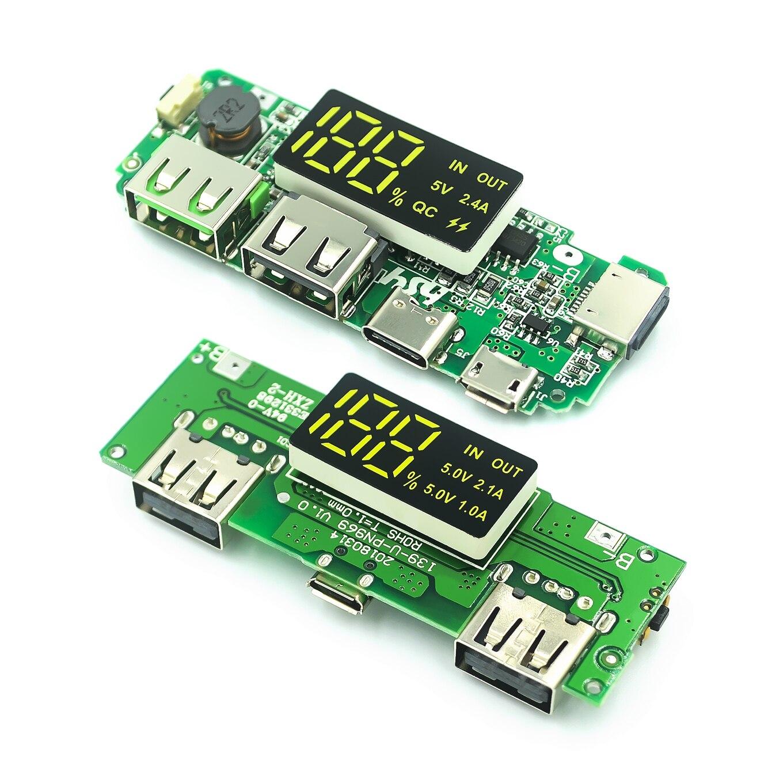 Double USB 5V 2,4 a, Micro/type-c, batterie externe Mobile 18650, Module de charge, batterie au Lithium, Circuit de Protection