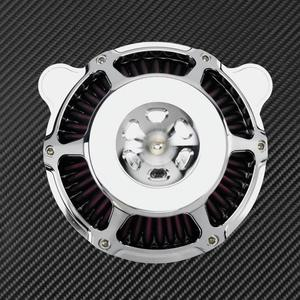 Image 5 - МОТОЦИКЛ хром воздухоочиститель фильтр Впускной фильтр ЧПУ для Harley Sportster XL883 48 Touring Dyna Super Glide Street Bob Softail