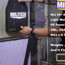 Тестовое видео-Militech NIJ III+ NIJ 0101,07 RF1 мульти-кривая чистая ПЭ пластина M43(как знать как AK47 7,62 мм x 39 мм MSC) тестовое видео