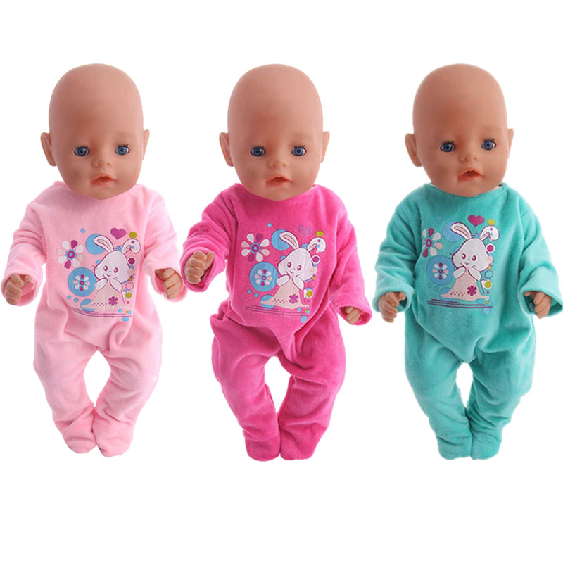 10 New Styles Of Cute Rabbit Pajamas  For 18-Inch American Doll Accessories, Generation, Girl Toy Gifts