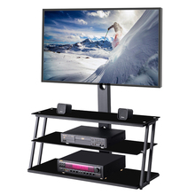 TV Stand Entertainment Center with Swivel Mount and Storage Shelves and 3-in-1 TV Stand for 32 -65 inch Plasma LCD LED Flat TV