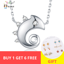 Strollgirl Authentic chameleon Necklaces Cute Style 925 sterling silver Necklace Jewelry Pendant Graduation Gift New