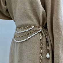 Exaggerated Multilayer Waist Chain Elegant Pearl Tassel Belt for Lady Party Nightclub Dress Waistband Jewelry
