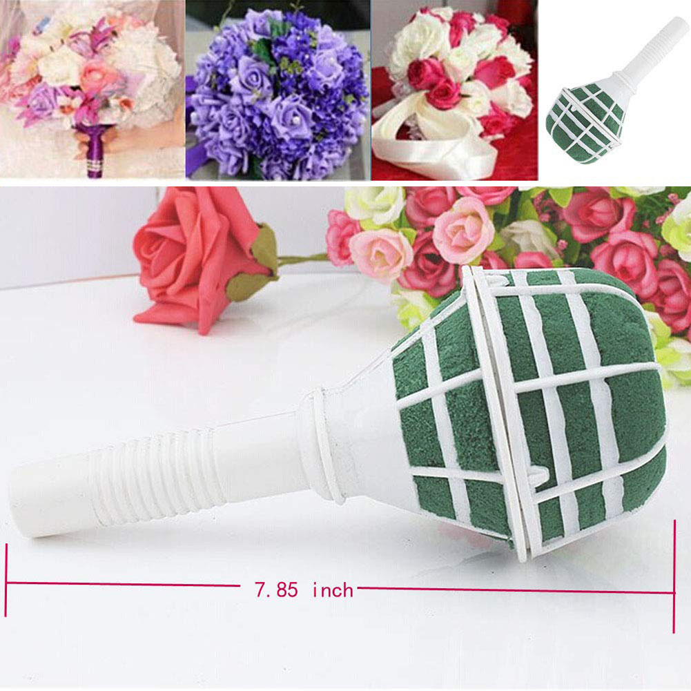 6pcs/set Bouquet Holder DIY Bridal Floral Foam Bouquet Handle for Bridal Fresh Flowers Silk Flowers Wedding Supplies Decoration