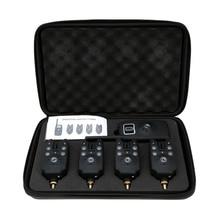 Lixada беспроводной светодиодный сигнализатор для ловли рыбы, набор сигнализаций для рыбалки, индикатор, оповещение, приемник, рыболовные снасти с коробкой на молнии