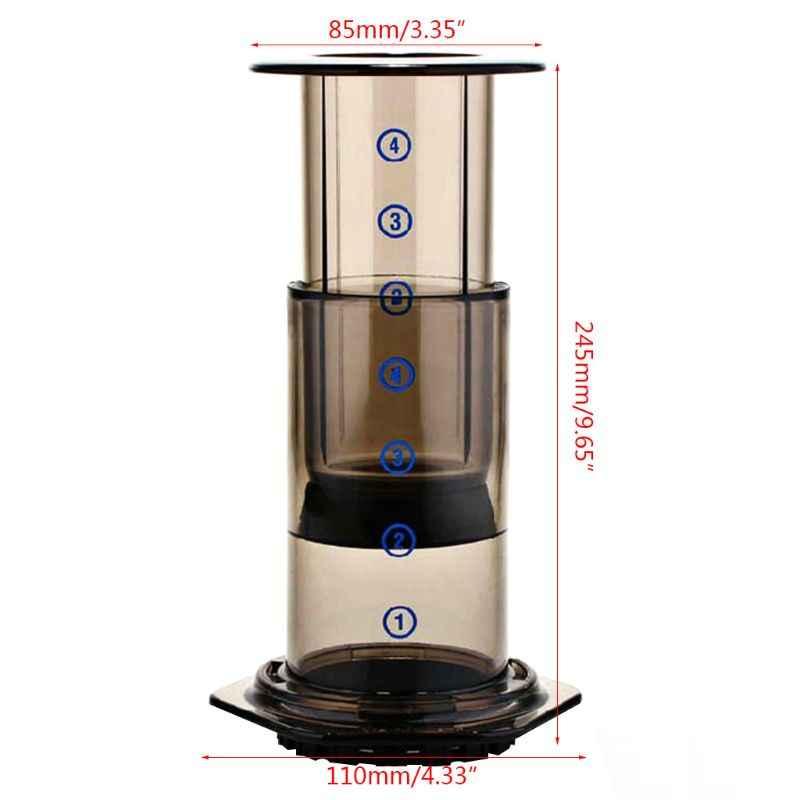 Novo filtro de vidro espresso máquina café café portátil imprensa francesa cafecofee pote para aeropress