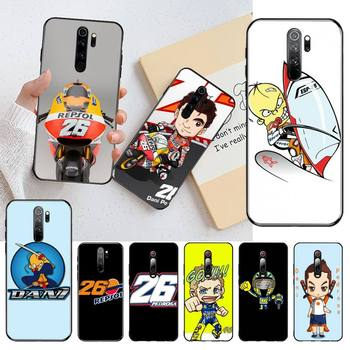 Dani Pedrosa 26 motorcycle Cover Black Soft Shell Phone Case for Redmi Note 8 8A 8T 7 6 6A 5 5A 4 4X 4A Go Pro image