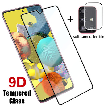 2in1 9D Glass + Len Screen Protector for Samsung A51 A71 A21S A31 A41 Phone Glass for Galaxy A50 A70 A30 A40 A20 M21 M31 M51 image