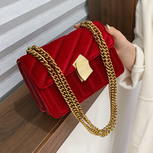 Luxury women crossbody bag high quality velvet chain female designer shoulder bag Splicing package party small square bags