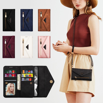 Luxury Diagonal Wallet Zipper Leather Case For Samsung Galaxy A5 J3 J5 J7 2017 A6 Plus A7 J3 J4 J6 J7 J8 2018 A750 Phone Cover
