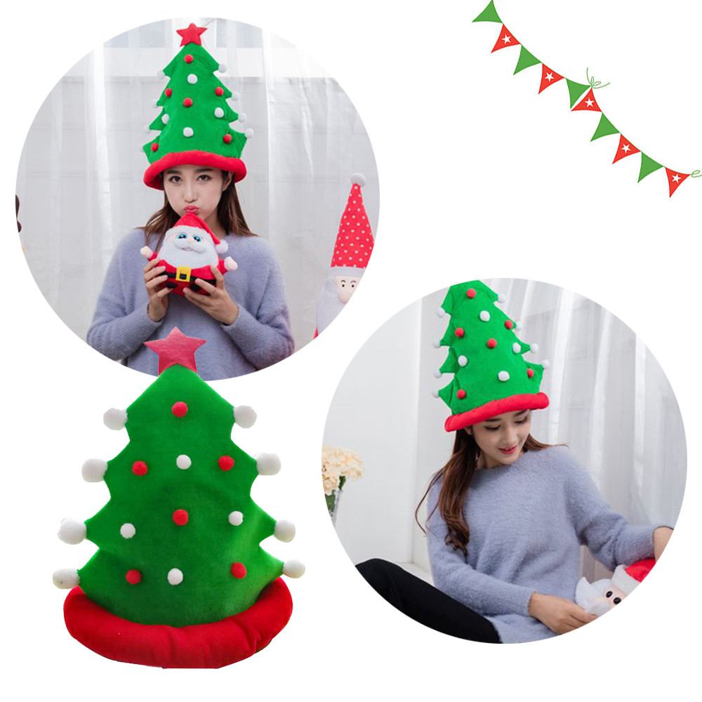 Christmas Tree Funny Party Hats Christmas Hats Plush Costume, Outfit Novelty Toy Kids Toys Toys For Children Baby Toys