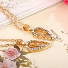 New Hollow Heart Shape Stitching Pendant Necklace Gold Silver Best Friends Gift Necklace Charm Alloy chain Necklace for Women цена 2017