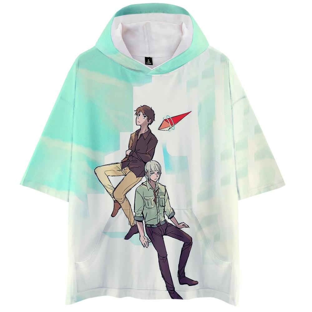 Tower Of God 3D Kpop Anime 3D Hooded T-shirts Women/Men Summer Short Sleeve Tshirt Harajuku 2020 New Arrival Streetwear Clothes