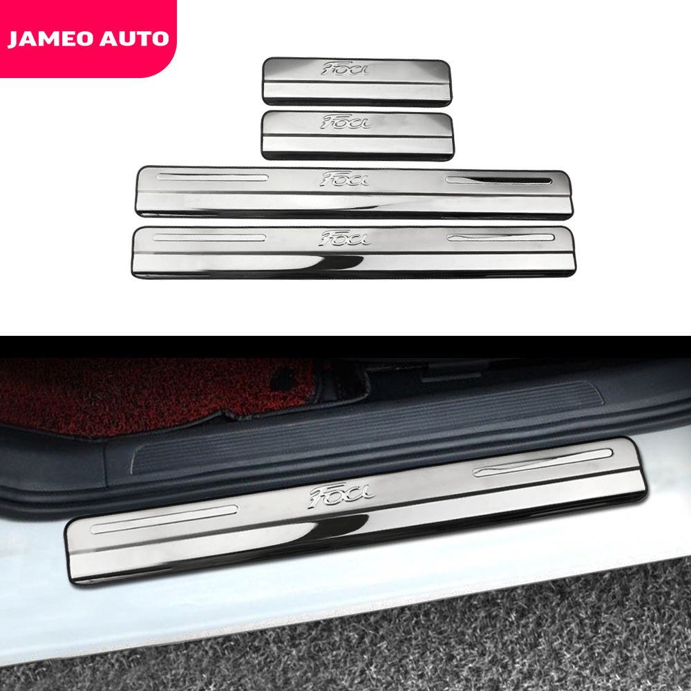 Car Door Sill Scuff Plate For Ford Focus 2 Focus 3 Mk3 Guards Door Sills Strip Protector Stickers Stainless Steel Accessories