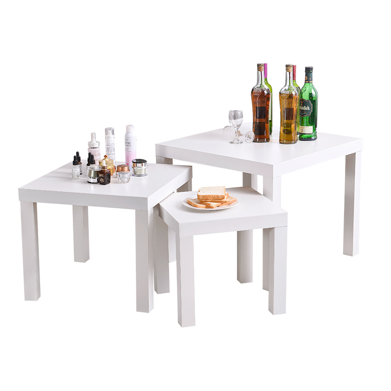 Simple Modern Small Coffee Table Wooden Square Table Pull Side Table Bedside Table 55 Cm Long Small Table Supermarket Promotion