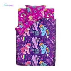 КПБ Delicatex1.5 хлопок My little Pony Neon (70х70) рис. 16119-1/16120-1 Дружба