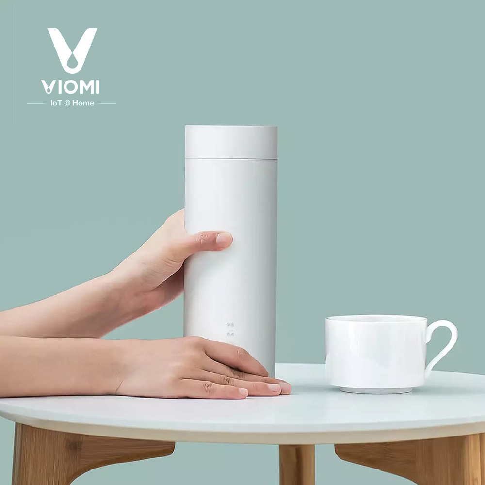 VIOMI Portable Travel Water Kettle Electric Heating Bottle CUP 400ml 220V For Tea Coffee Smart Temperature Control From xiaomi
