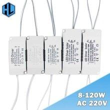 Светодиодный сменный драйвер 220 В переменного тока 8 120 Вт, не изолирующий трансформатор, светодиодный адаптер питания для светильников