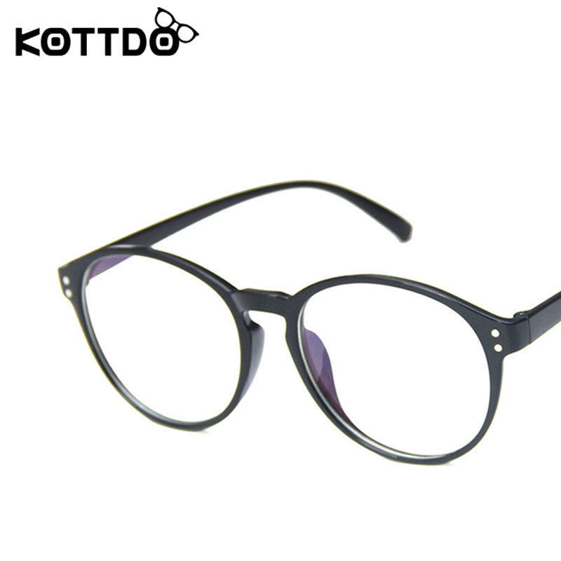KOTTDO Vintage Round Plastic Glasses Frame Classic Game Optics Men Eyeglasses Neutral Gift 2020