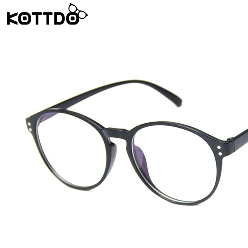 KOTTDO Vintage Round Plastic Glasses Frame Classic Game Optics Men Eyeglasses Neutral Gift 2020