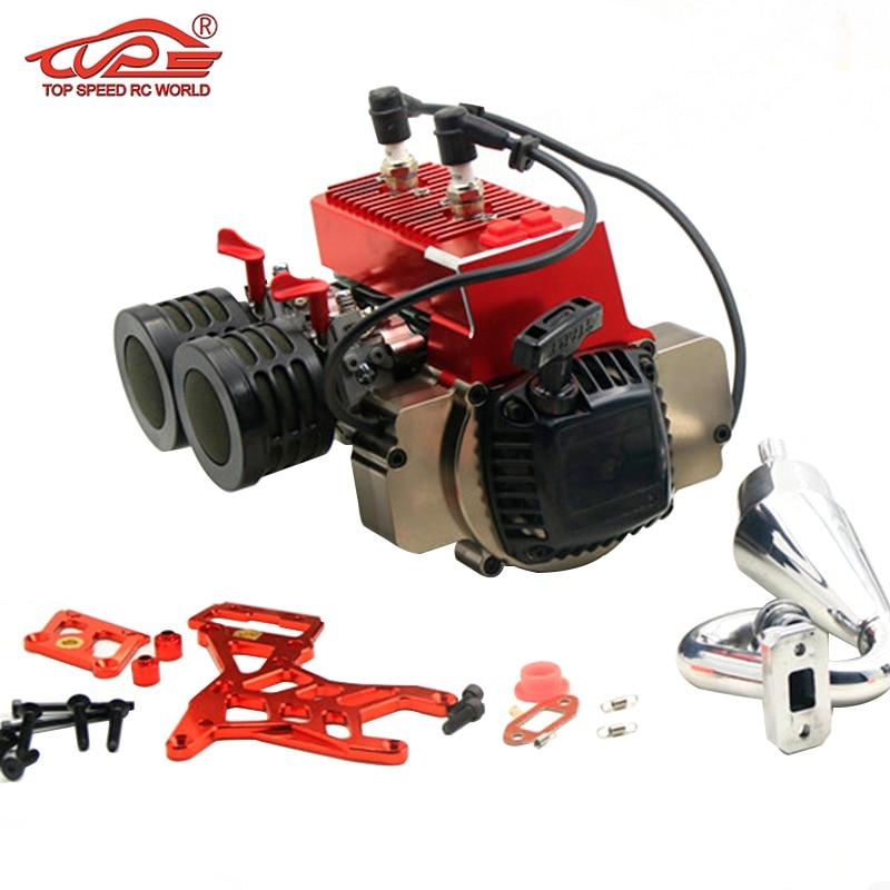Twin-cylinder Engine, 60CC ENGINE For 1/5 ROVAN HPI KINGMOTOR FID GTB MCD Rc Car PARTS