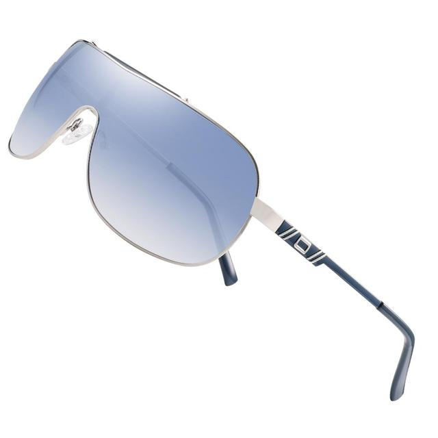 FENCHI NEW Windbreak Men Sunglasses Women Driving Blue Oversized Female Sun Glasses Goggles Zonnebril Dames Oculos Feminino